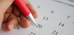 Circling a date on a calendar